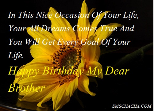Happy Birthday Message For Brother Picture Sms Status Whatsapp ...